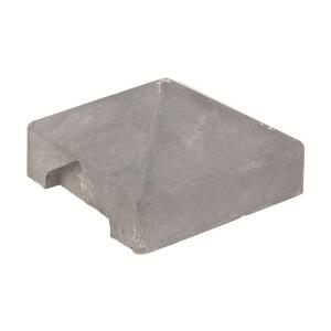 Berton©-afdekpet wit/grijs 14x14x5cm hoekmodel
