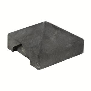 Berton©-afdekpet antraciet 14x14x5cm hoekmodel