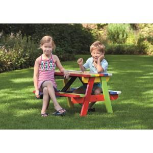 Hardhouten picknicktafel Kindermodel kleur gespoten