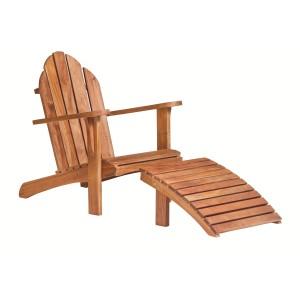 Hardhouten stoel Relax voetenbankje
