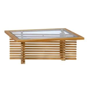 Teak loungeset (2 colli) Riverside tafel met glasplaat