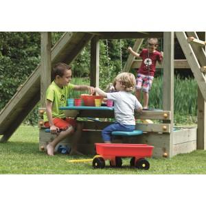 Speelgarnituur Inbouw picknick zit (z/houten liggers
