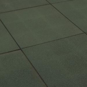 Rubbertegel 50x50x2.5cm Groen