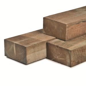 Rustieke grenen biels 12x22x260cm A/B klasse 3 groen