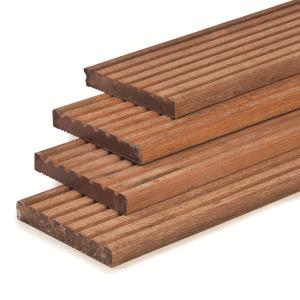 Hardhouten vlonderplank 2.1x14.5x460cm