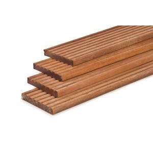 Hardhouten vlonderplank 2.1x14.5x515cm
