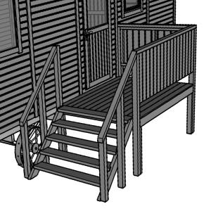 Luxe veranda B t.b.v. zigeunerwagen