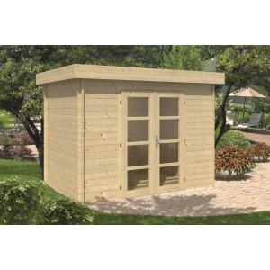 Blokhut 28mm Minimodern (16.5 m² dakleer)