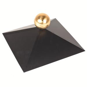 Afdekkap (exclusief bol) Zwart vierkant dak