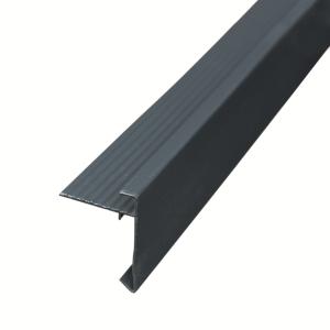Blokhutaccessoires Alu.daktrim antraciet 4.5x4.5x250cm