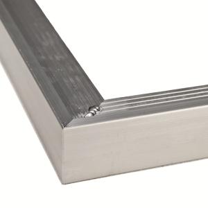 Blokhutaccessoires Aluminium buitenhoek daktrim