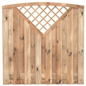 Tuinscherm 15 planks toog Superieur Coevorden 180x180cm